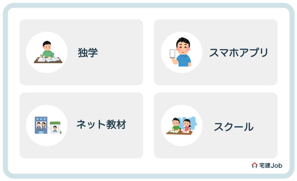 宅建の勉強方法【独学?スクール?】