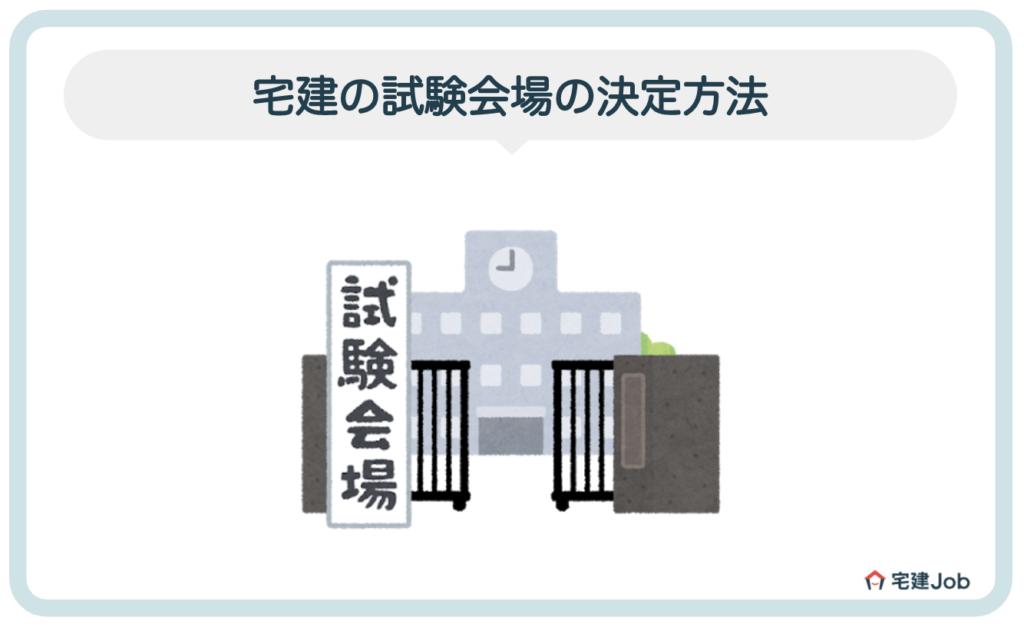 宅建の試験会場の決定方法