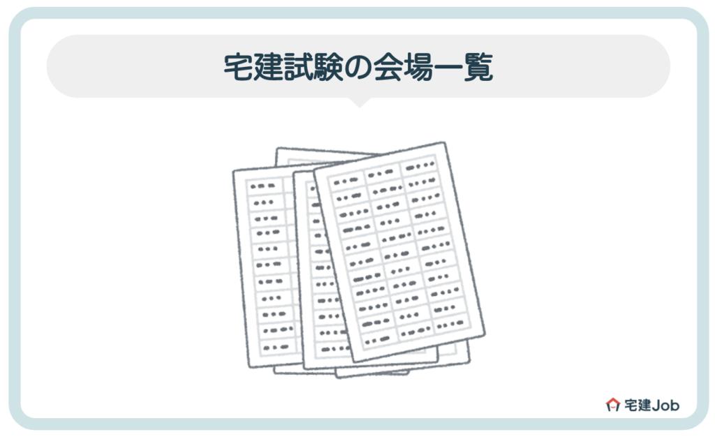 宅建試験の会場一覧【2020年(令和2年)】