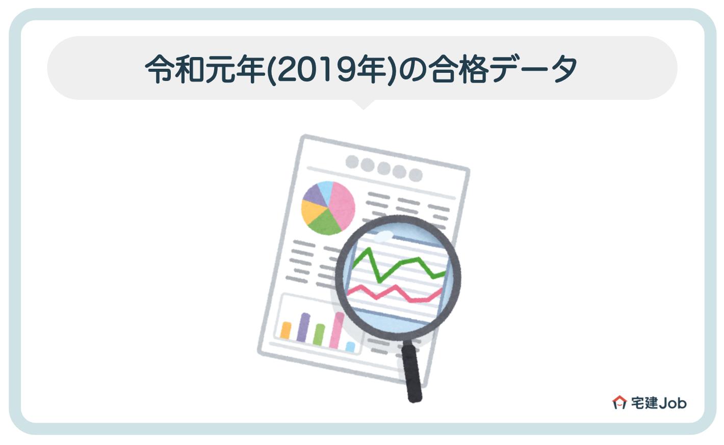 令和元年(2019年)の宅建試験合格データ