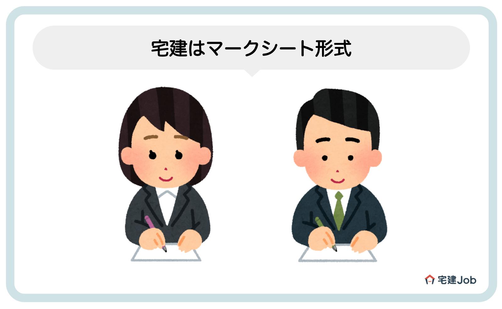 1.宅建はマークシート形式【四肢択一式】