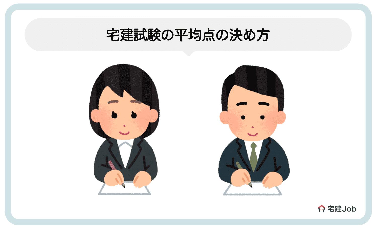 2.宅建試験の平均点・偏差値・合格率の違い【決め方】