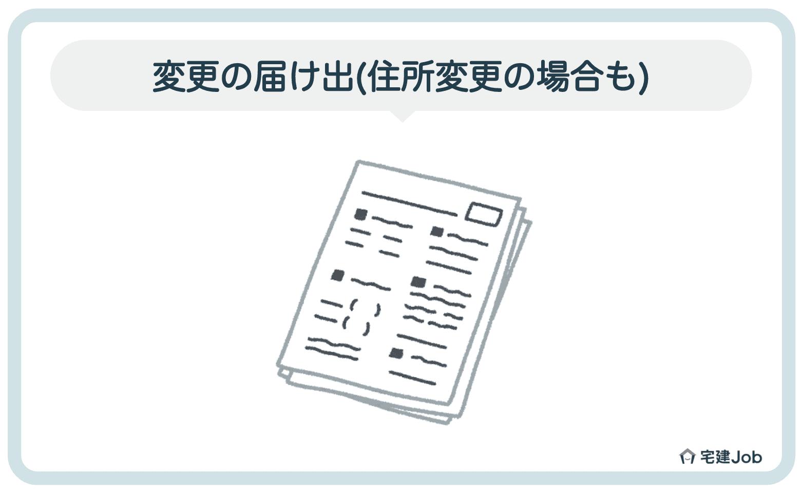 5.宅建免許の申請内容に関する変更の届け出(住所変更の場合も)