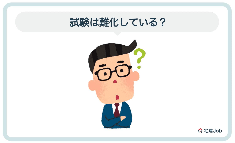 1.賃貸不動産経営管理士試験は難化している?【合格率の推移】