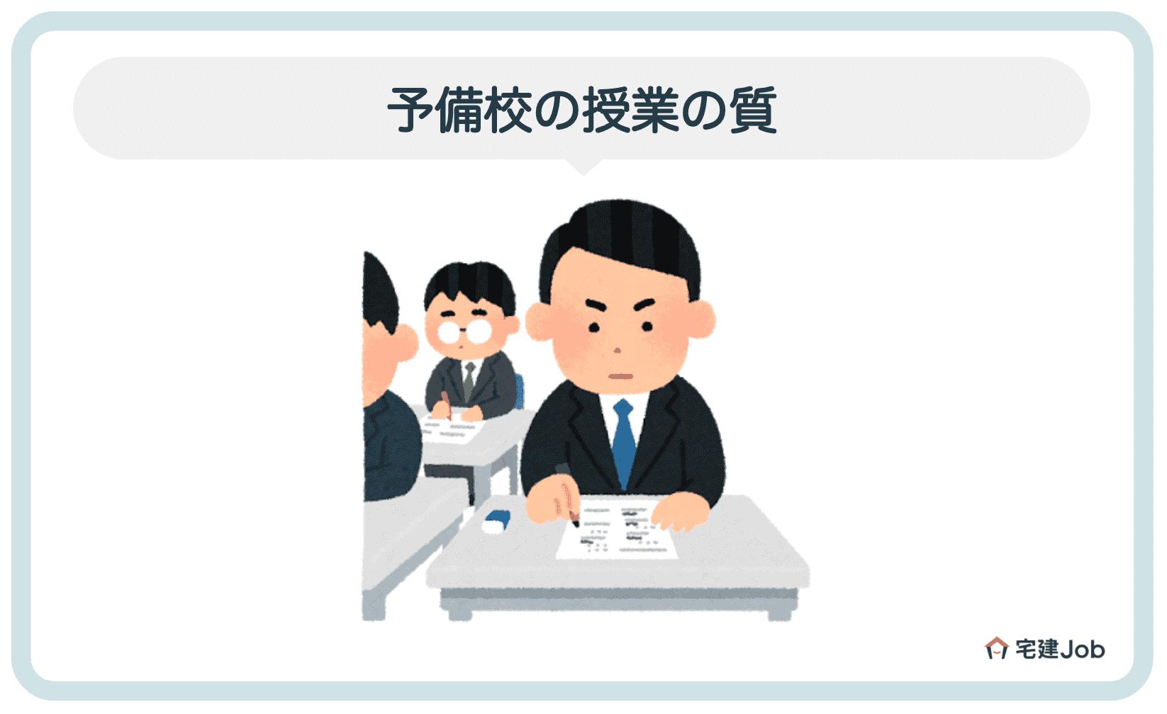 2.授業の質(講師・テキスト)【不動産鑑定士の予備校】