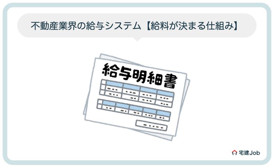 不動産業界の給与システム【給料が決まる仕組み】