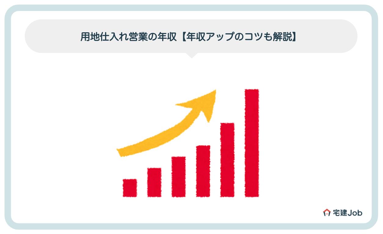 用地仕入れ営業の年収【成績を上げて年収アップするコツも紹介】