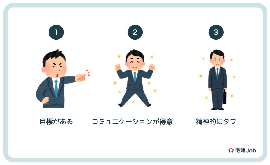 不動産営業マンに向いてる人の3つの特徴