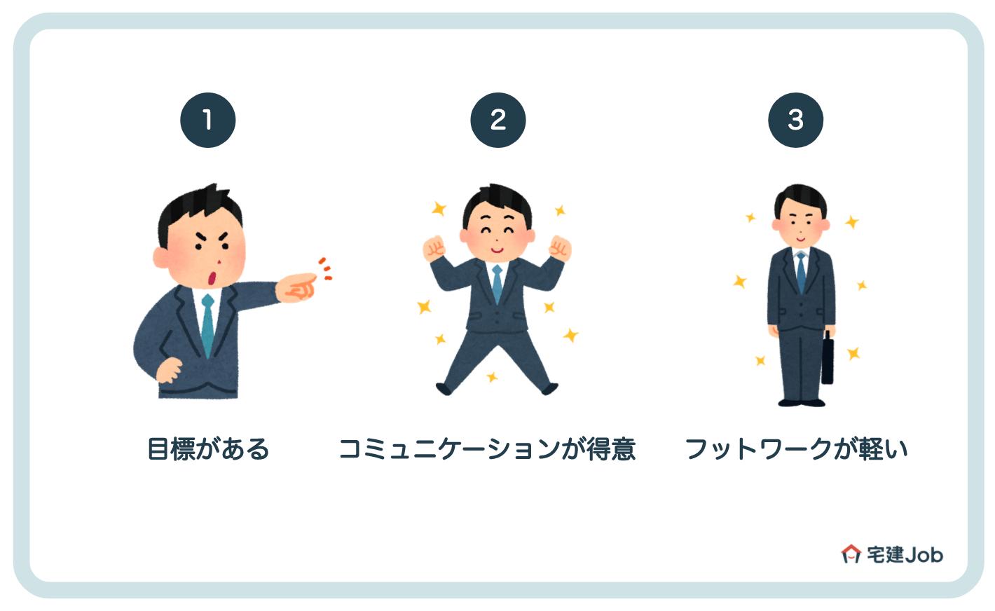 4.実力次第で稼げる「営業職」に向いている人
