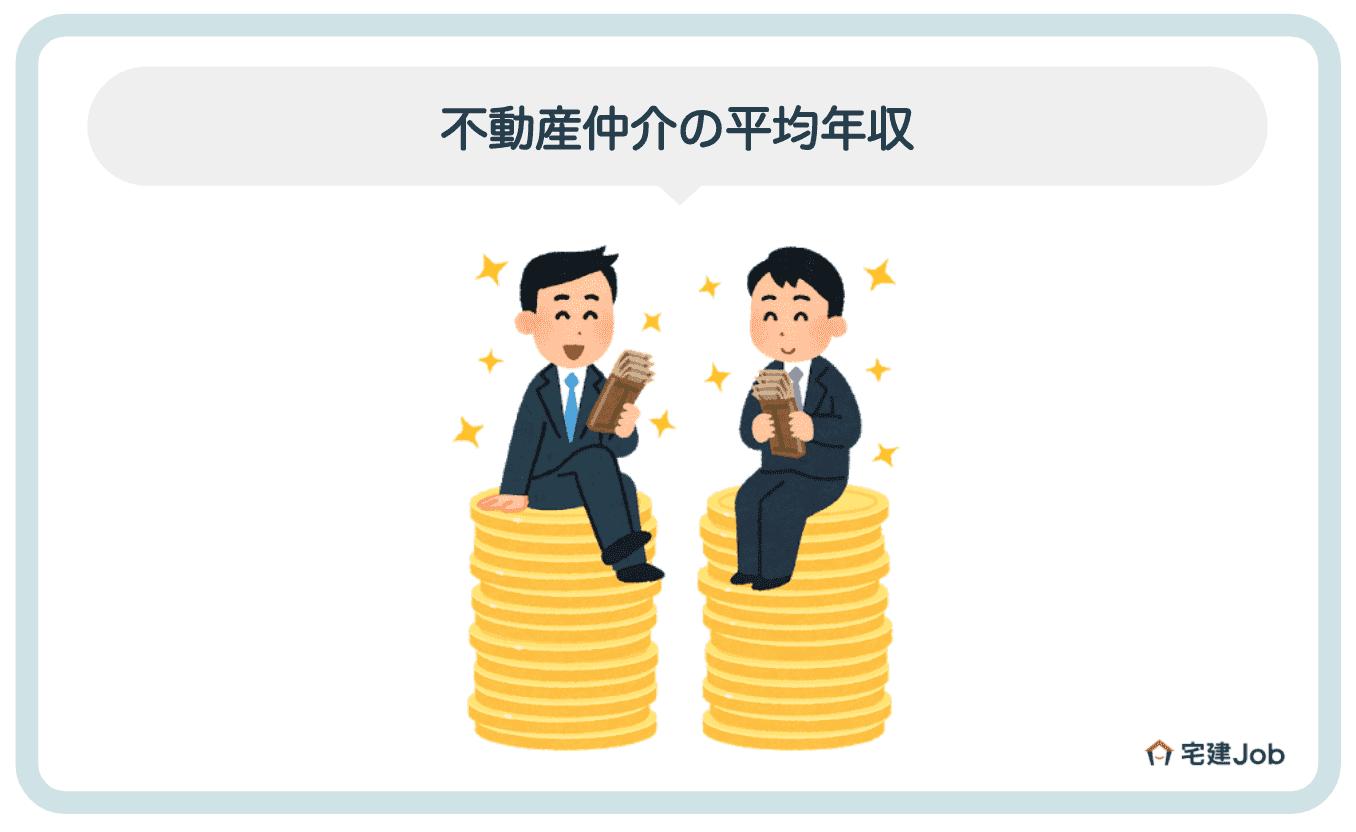 1.不動産仲介の平均年収は458万円
