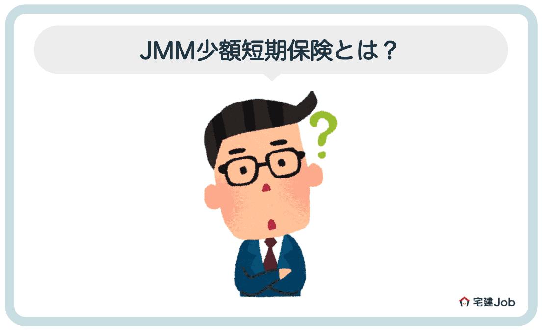 1.JMM少額短期保険とは?【特徴・運営会社】