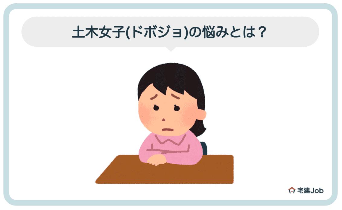2.土木女子(ドボジョ)の悩みとは?