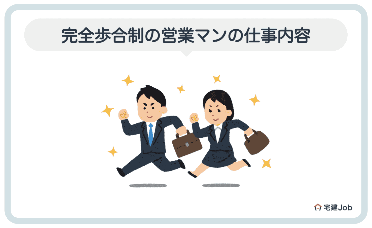 2.完全歩合制の営業マンの仕事内容