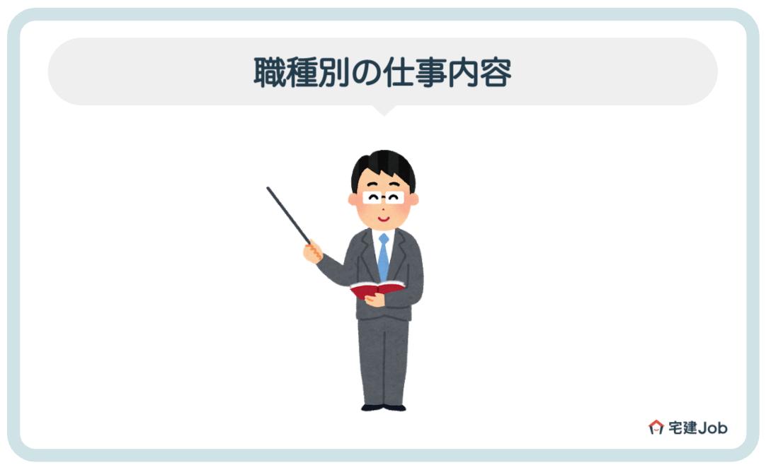 3.ハウスメーカーの仕事内容【職種別】